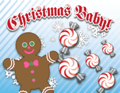 Christmas Candy Birth Announcement