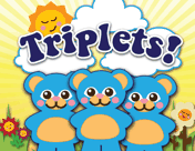 Triplet Animals Birth Announcement
